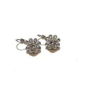 Lia sophia crystal bouquet hinged earrings